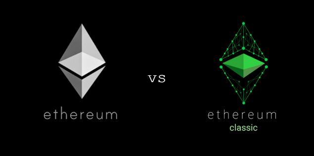 Hasil gambar untuk ethereum vs ethereum classic
